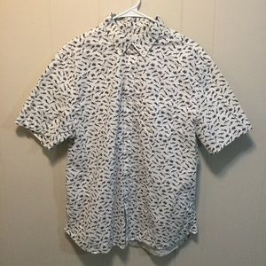 Button Down Shirt w/ Divers and Sea Life